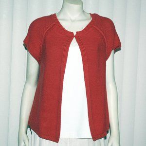 Liz Claiborne Brick Colored Cardigan, Sz L